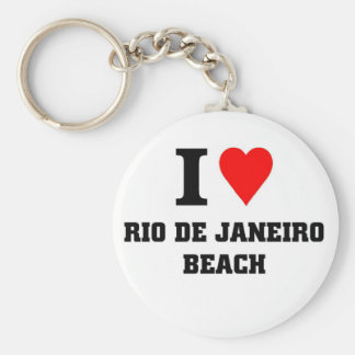 I love Rio De Janeiro Beach Keychain