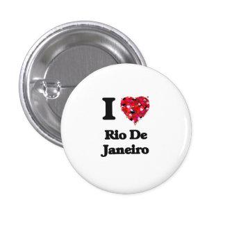 I love Rio De Janeiro Brazil 1 Inch Round Button