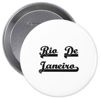 I love Rio De Janeiro Brazil Classic Design 4 Inch Round Button