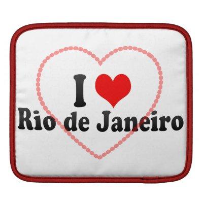 I Love Rio de Janeiro, Brazil Sleeve For iPads