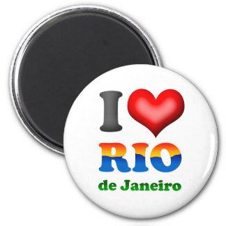 I Love Rio de Janeiro, Brazil The Wonderful City 2 Inch Round Magnet