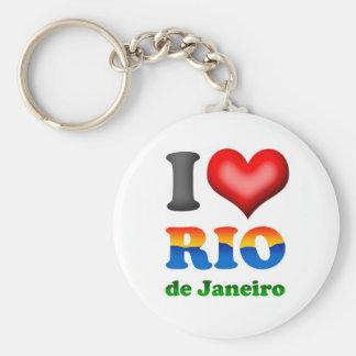 I Love Rio de Janeiro, Brazil The Wonderful City Keychain