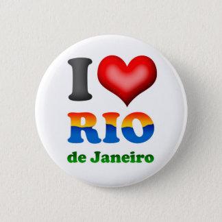 I Love Rio de Janeiro, Brazil The Wonderful City Pinback Button