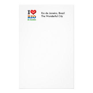 I Love Rio de Janeiro, Brazil The Wonderful City Personalized Stationery