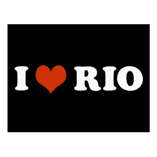 I love Rio de Janeiro Cartões Postais