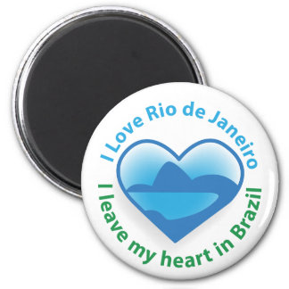 I Love Rio de Janeiro - I Leave my Heart in Brazil 2 Inch Round Magnet