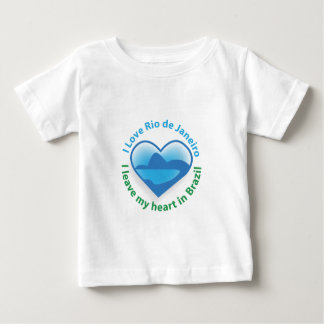 I Love Rio de Janeiro - I Leave my Heart in Brazil Baby T-Shirt