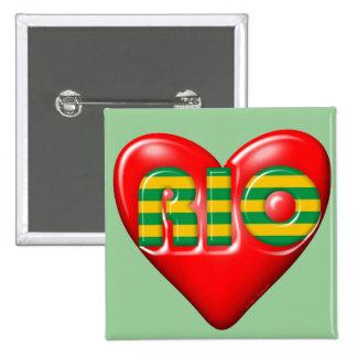 I Love Rio De Janeiro Pinback Buttons