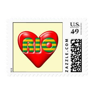 I Love Rio De Janeiro Postage Stamps