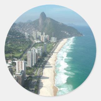 I Love Rio de Janeiro Round Stickers