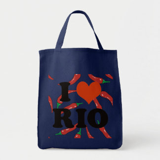 i love Rio with chilli peppers Tote Bag