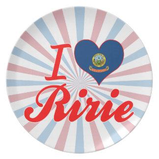 I Love Ririe, Idaho Dinner Plate