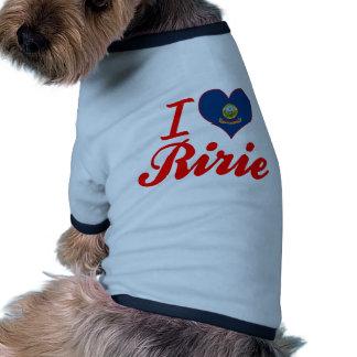 I Love Ririe, Idaho Doggie T Shirt