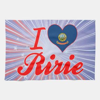I Love Ririe, Idaho Hand Towels