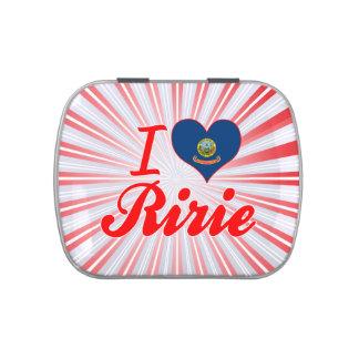 I Love Ririe, Idaho Jelly Belly Candy Tin