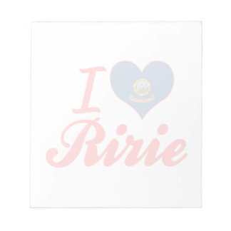 I Love Ririe, Idaho Memo Pads