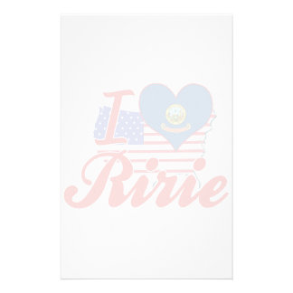 I Love Ririe, Idaho Personalized Stationery