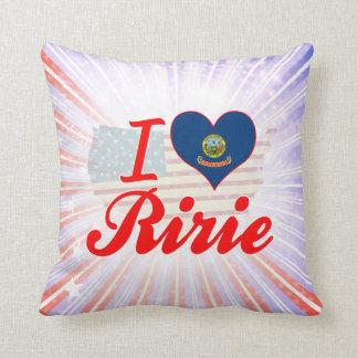 I Love Ririe, Idaho Pillow