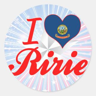 I Love Ririe, Idaho Round Sticker