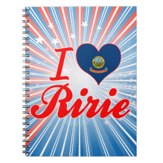 I Love Ririe, Idaho Spiral Note Book