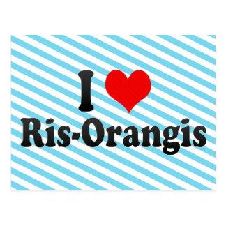 I Love Ris-Orangis, France Postcard