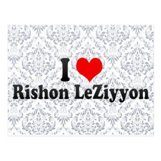 I Love Rishon LeZiyyon, Israel Postcard