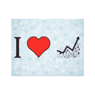 I Love Rising Literacy Rate Canvas Print