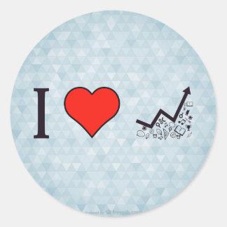 I Love Rising Literacy Rate Classic Round Sticker