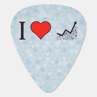 I Love Rising Literacy Rate Guitar Pick