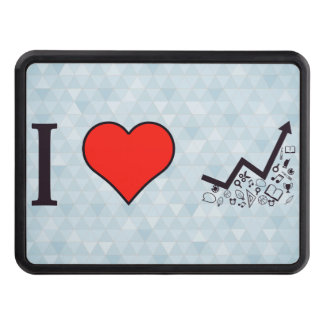 I Love Rising Literacy Rate Trailer Hitch Cover
