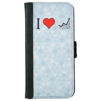 I Love Rising Literacy Rate Wallet Phone Case For iPhone 6/6s