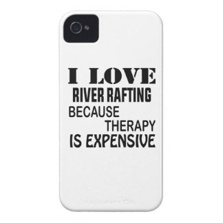 I Love River Rafting Because Therapy Is Expensive iPhone 4 Case-Mate Case