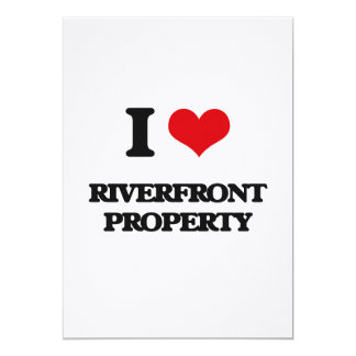 I Love Riverfront Property 5x7 Paper Invitation Card