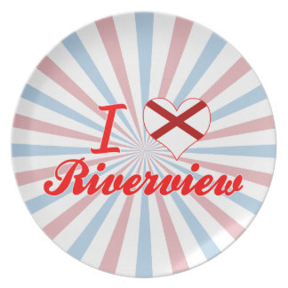 I Love Riverview, Alabama Party Plate