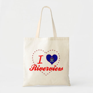 I Love Riverview, Michigan Canvas Bags
