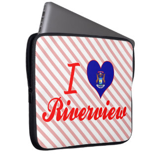 I Love Riverview, Michigan Laptop Sleeves