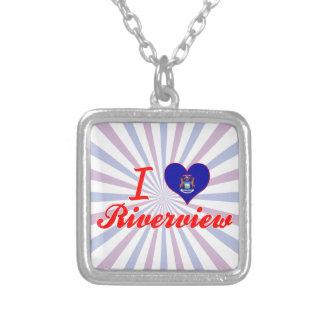I Love Riverview, Michigan Necklace