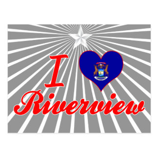 I Love Riverview, Michigan Postcard