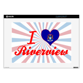 I Love Riverview, Michigan Decals For Laptops