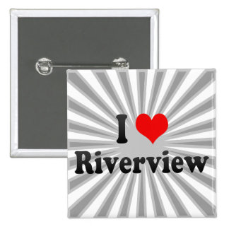 I Love Riverview, United States Pinback Button