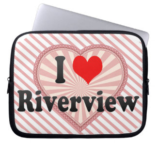 I Love Riverview, United States Laptop Sleeve