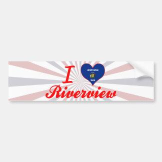 I Love Riverview, Wisconsin Bumper Sticker