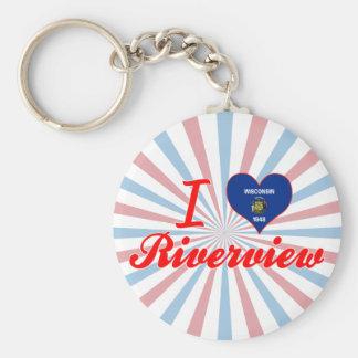 I Love Riverview, Wisconsin Key Chain