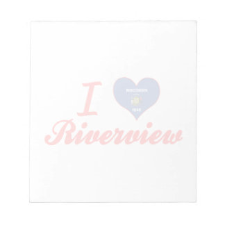 I Love Riverview, Wisconsin Note Pads