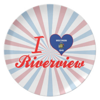 I Love Riverview, Wisconsin Dinner Plate