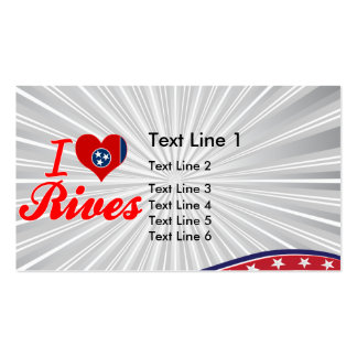 I Love Rives, Tennessee Business Card Template