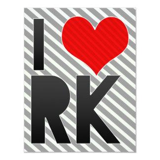 I Love RK 4.25x5.5 Paper Invitation Card