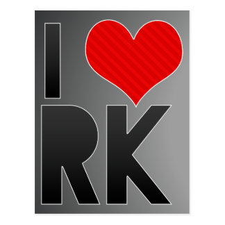 I Love RK Postcard