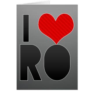 I Love RO Card