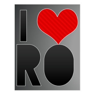 I Love RO Postcard